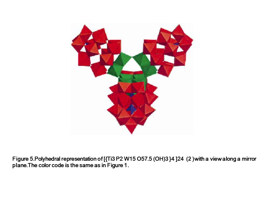 Figure 5. Polyhedral representation of [{Ti3 P2 W15 O57